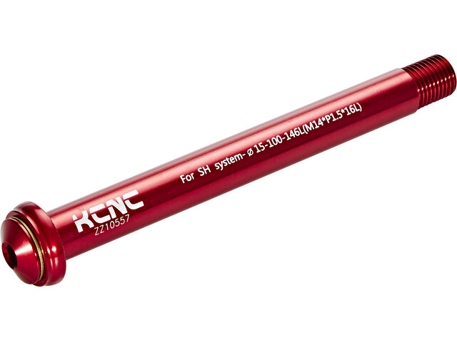KCNC KQR08-SH Steckachse 15x100mm Shimano E-Thru/Fox red